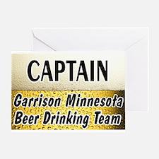 Garrison Beer Drinking Team Greeting Card