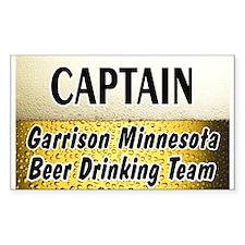 Garrison Beer Drinking Team Decal