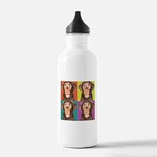 Puppy Pop Art Water Bottle