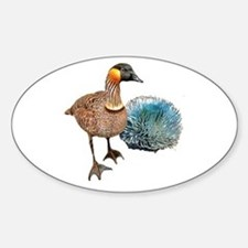 Hawaiian Islands NeNe - Sticker (Oval)