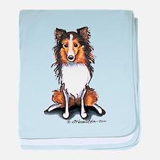 Sable Sheltie Lover baby blanket