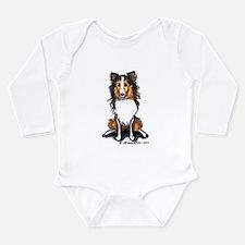 Sable Sheltie Lover Long Sleeve Infant Bodysuit