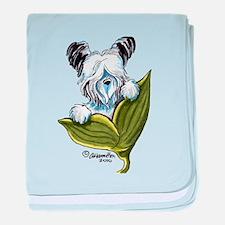 Platinum Skye Terrier baby blanket