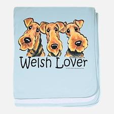 Welsh Terrier Lover baby blanket
