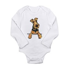 Welsh Terrier Paws Up Long Sleeve Infant Bodysuit
