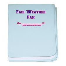 Fair weather fan baby blanket