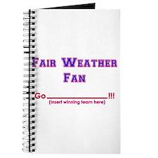 Fair weather fan Journal