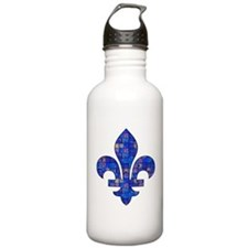Blue Mosaic Fleur Water Bottle
