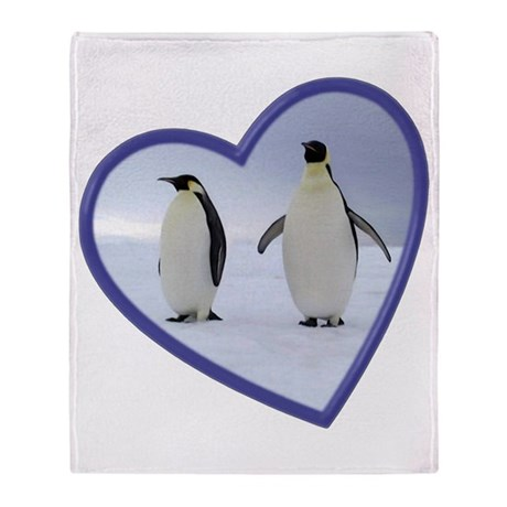 Emperor Penguin Throw Blanket