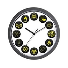 Hazardous Wall Clock