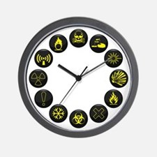 Hazardous Wall Clock