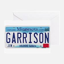 Garrison License Plate Greeting Card
