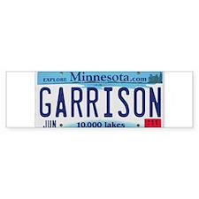 Garrison License Plate Bumper Sticker