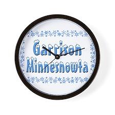Garrison Minnesnowta Wall Clock