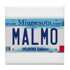 Malmo License Plate Tile Coaster
