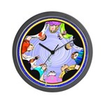 SERIES G:  A CIRCLE OF FRIENDS Wall Clock
