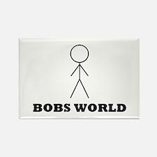 Bobs world Rectangle Magnet