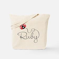 Ladybug Ruby Tote Bag