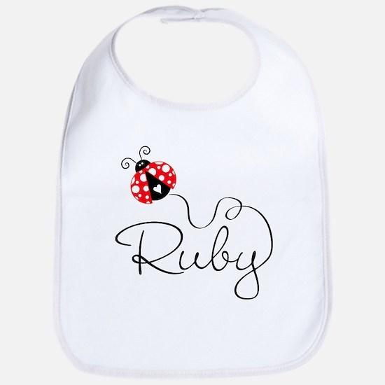 Ladybug Ruby Bib