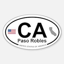 Paso Robles Sticker (Oval)