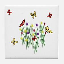 Butterfly Garden Tile Coaster