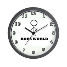 Bobs world Wall Clock