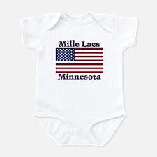 Mille Lacs US Flag Infant Bodysuit