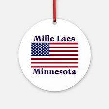Mille Lacs US Flag Ornament (Round)