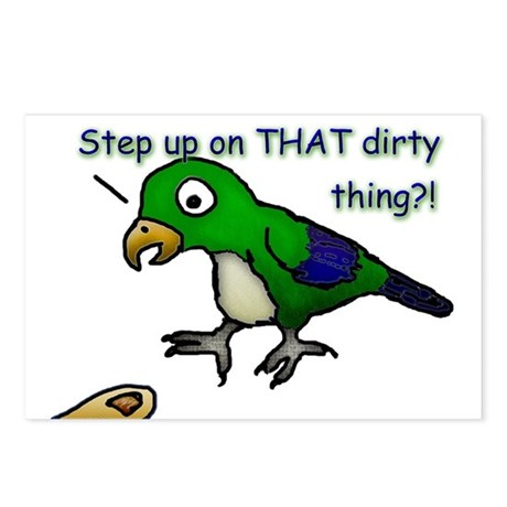 Step Up Parrot Postcards (Package of 8)