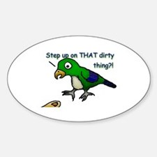 Step Up Parrot Oval Decal