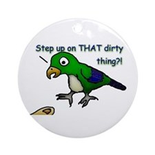 Step Up Parrot Ornament (Round)