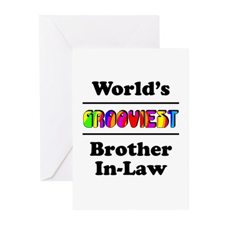 World's Grooviest Brother-In-Law Greeting Cards (P