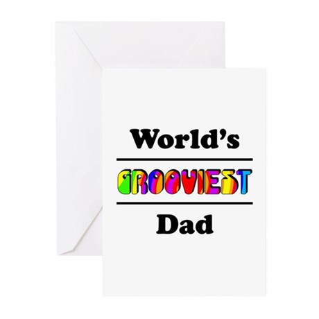 World's Grooviest Dad Greeting Cards (Pk of 20)