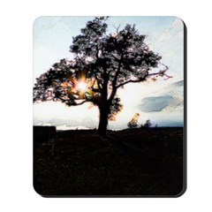 Tree and Sunlight Mousepad