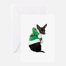 Santa Chihuahua Greeting Card