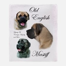 Old English Mastiff Throw Blanket
