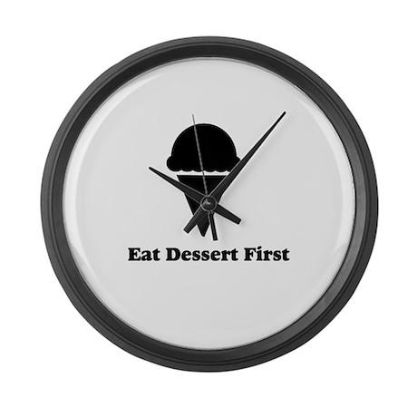 Eat Dessert First Large Wall Clock