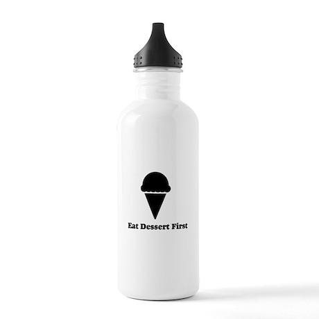 Eat Dessert First Stainless Water Bottle 1.0L