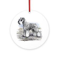 Miniature Schnauser Ornament (Round)
