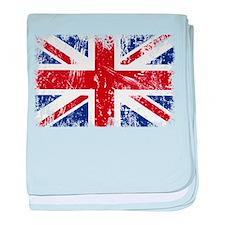 British Flag Punk Grunge baby blanket