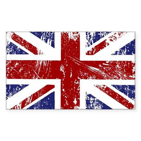 British Flag Punk Grunge Sticker (Rectangle 10 pk)