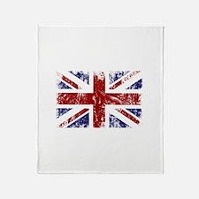 British Flag Punk Grunge Throw Blanket