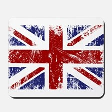 British Flag Punk Grunge Mousepad