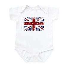 British Flag Punk Grunge Infant Bodysuit