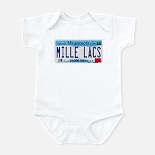 Mille Lacs License Plate Infant Bodysuit