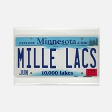 Mille Lacs License Plate Rectangle Magnet