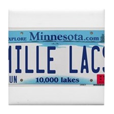 Mille Lacs License Plate Tile Coaster