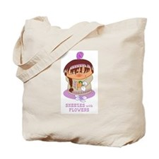 Sneezes with Flowers Tote Bag