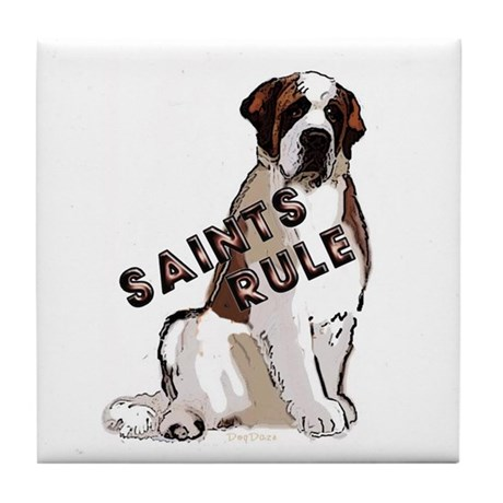 Saints Rule Tile Coaster