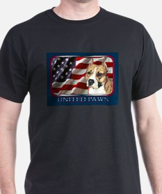 American Staffordshire Terrier Flag Black T-Shirt